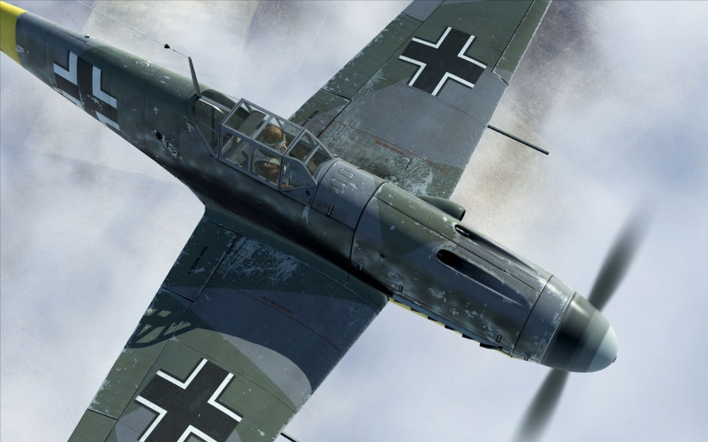 A closeup of a Bf109G-2