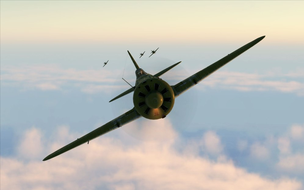 A flight of I-16s off to intercept some enemy bombers.