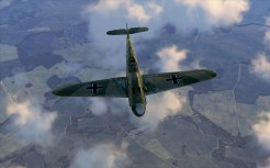 Top shot on a Bf109F-2