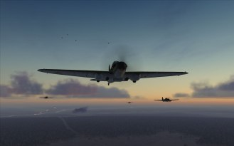 Formation of IL-2 model 1941 at dusk