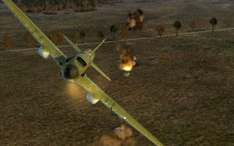 An early model IL-2 pulls away from a successful attack