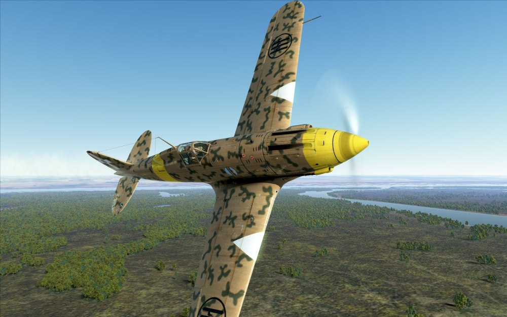 MC.202 flying over Stalingrad