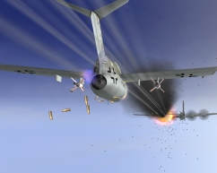 From the 1946 addon - a Ta-152 attacks Russian B-29/Tu-4 bombers
