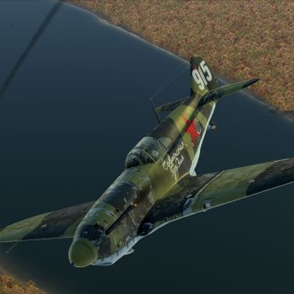 A LaGG-3 scores a victory over the Volga river