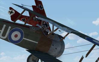 The Camel and the Fokker Dr. I fight it out in the skies of Rise of Flight