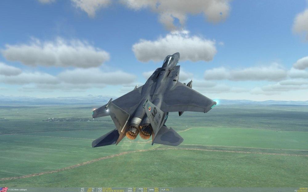 F-15 in full burner takeoff