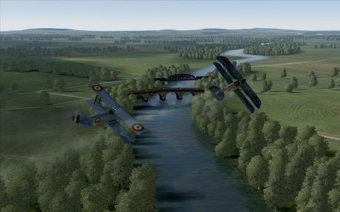 Dogfight over the river