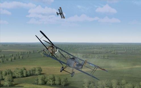 Hanriot HD.I versus a D.III over France (Rise of Flight)
