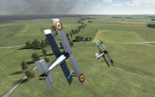 An HD.1 dogfights over the front!