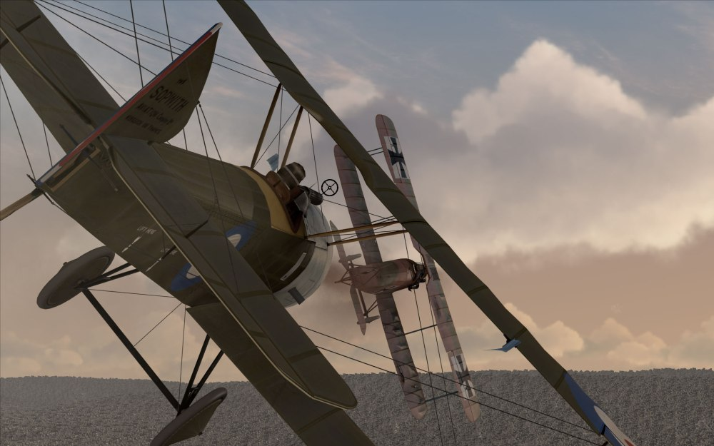 A Sopwith Pup closes in for the kill