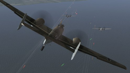 Bf110C-4 attacks some SB-2 bombers