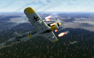 The FW190A-5 with six forward firing cannons (and two machine guns)