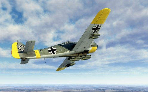 A FW190A-5 in U17 fighter-bomber configuration