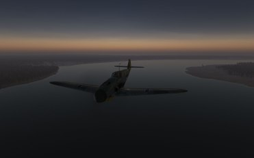 Scouting the area at dusk