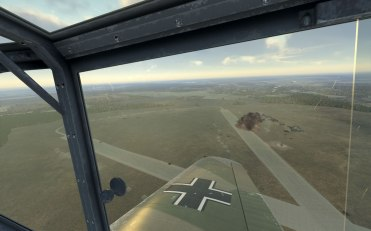 Friendly Bf110s bombs land squarely on the enemy airfield