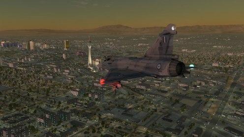 Approaching the Vegas strip