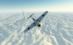 Above the nasty weather below a deadly dogfight breaks out
