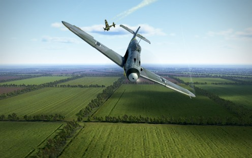 A Bf109 scores a kill in the skies over Krasnodar (IL-2: Battle of Kuban)