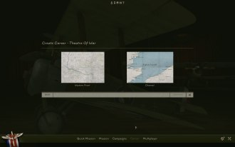 Select your theatre of war first. If you own the Channel Map then you can gain access right away.