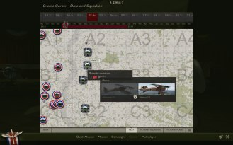 Next you pick your time period (slider on the top) and your squadron.