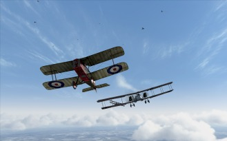 SE5a attacks a Gotha G.V bomber