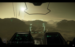 Cockpit view with HUD and lots of clickable buttons