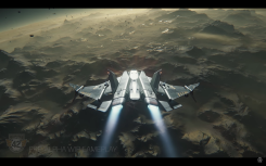 Another look at the Gladius during the transition down to the planet - it happens seamlessly with no loading screens