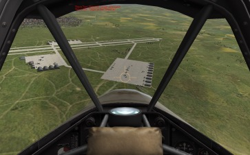Attacking an airfield in Normandy. Note the clear view forward.