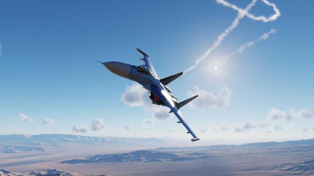 Su27-in-sunny-combat