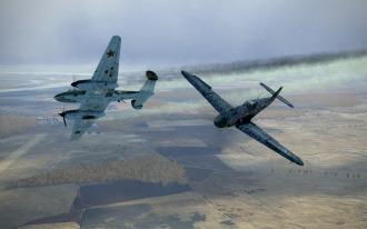 Bf109F-4-Pe2-attack