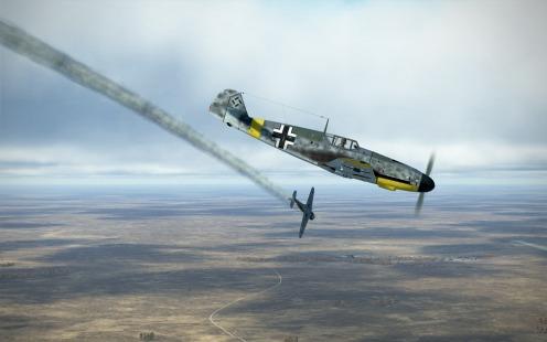 Bf109G-2-divingpast