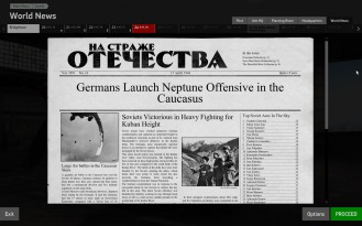 The latest newspaper detailing the launch of the Neptune Offensive