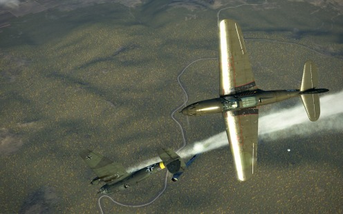 P-39-bomber-down