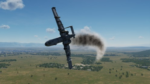 But that third run ended poorly. My A-10 was shot up and uncontrollable.
