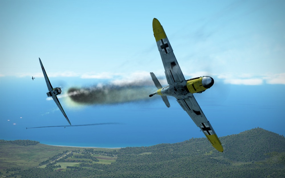 Bf109-dogfight