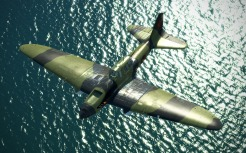 An IL-2 Model 1943 flying during an early Sea Dragon campaign mission.