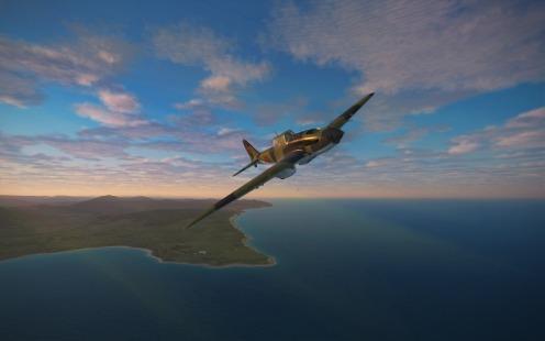 Returning to base as the sunrises over homebase.