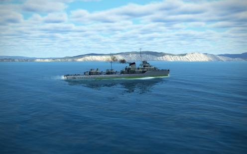 A Soviet Navy Type 7 destroyer