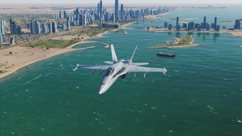 F-18-beachandskyscrapers