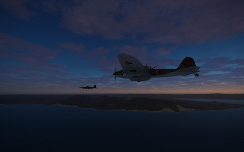 Early light as IL-2s head out to find enemy ships along the coast