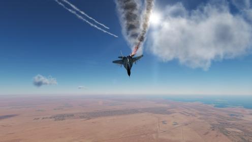 MiG-29A-IRIAF-on-fire