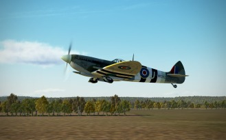 SpitfireIXe-takeoff