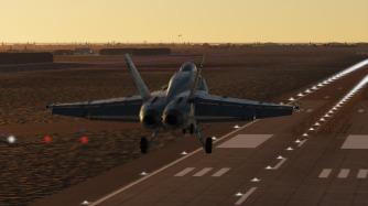 F-18-dusk-landing