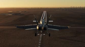 F-18-heat-blur-landing