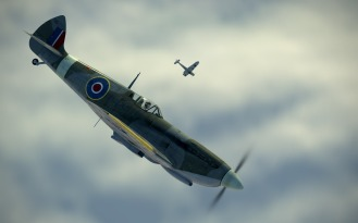 SpitfireIXe-against-the-cloud
