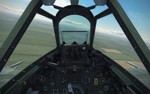 Spitfire IX with lead computing gunsight