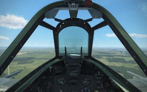 Spitfire IX with standard reflector sight