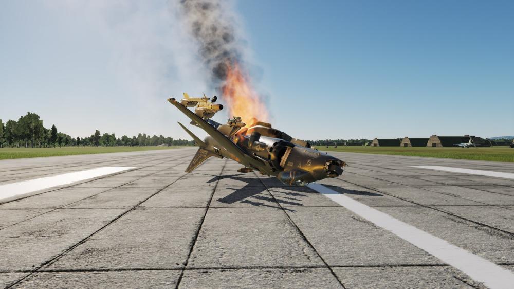 AV-8B-crashed