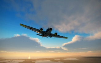Ju52-sunset-deepblue