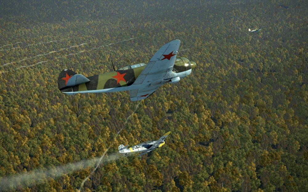 La-5FN-three-plane-chase